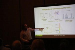 Dr. Sandau presenting PAH fingerprints at EnviroTech 2018