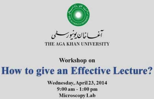 Workshop on How to Give an Effective Lecture