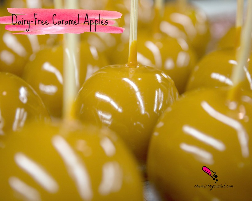 Dairy-Free Caramel Apples (glistening honey caramel apples)