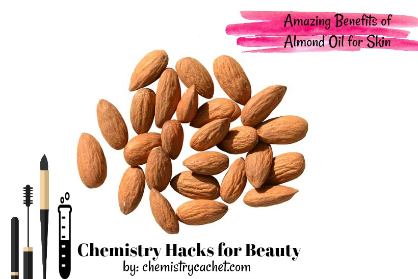 Chemistry Hacks for Beauty The Amazing Benefits of Almond Oil for Skin. Almond oil benefits on chemistrycachet.com