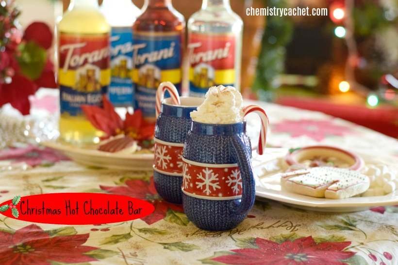 Easy Christmas Hot Chocolate Bar with dairy-free options!