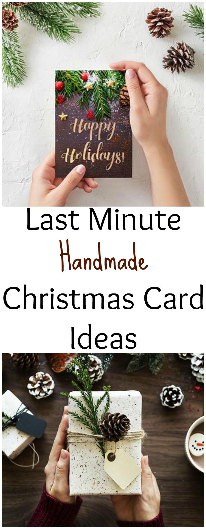 Last Minute Handmade Christmas Card Ideas on chemistrycachet.com