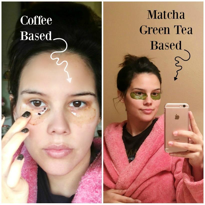 DIY under eye mask versions