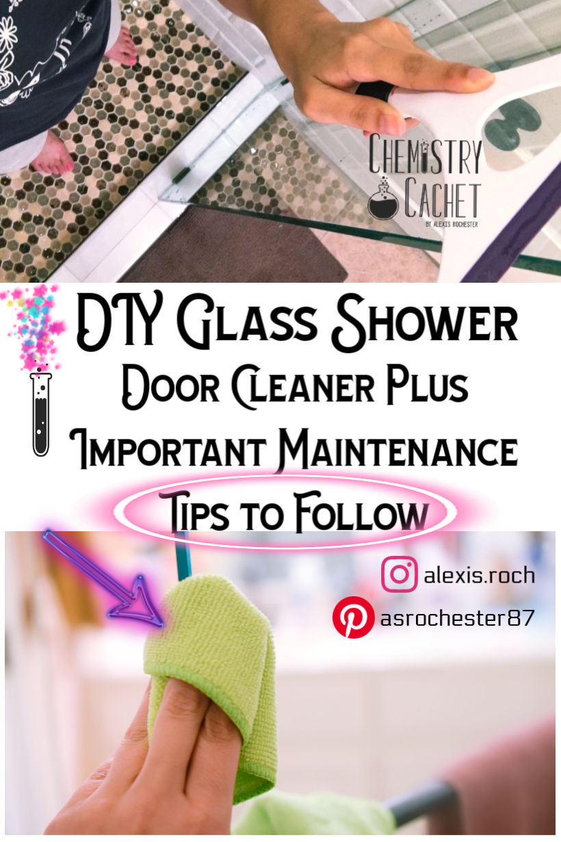 How To Clean Glass Shower Doors With Vinegar And Dawn how to clean a glass shower door - chemistry cachet