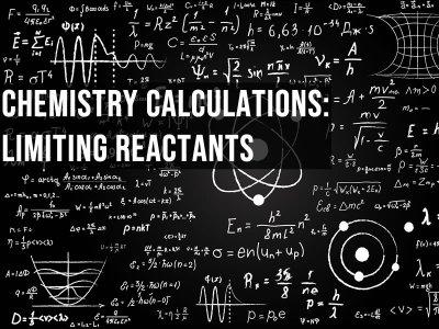 Calculations drawn on a blackboard