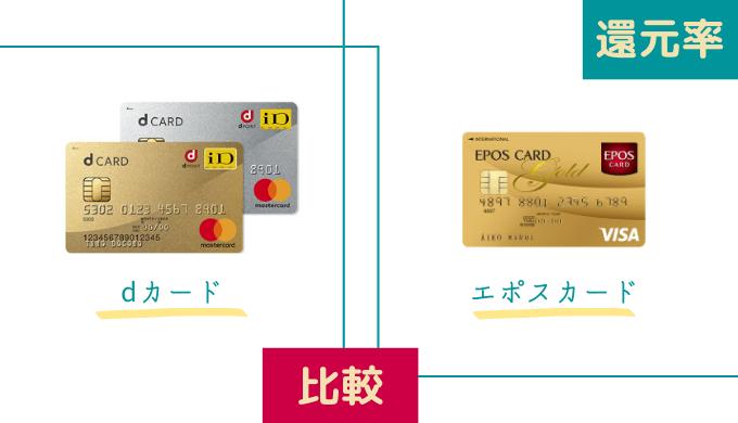エポスカードとdカードの還元率はどちらが高いのか比べてみた