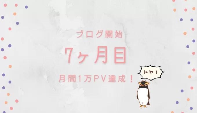 ブログ開設から7ヶ月経過。なんとか月間1万PV達成!素直に嬉しい!