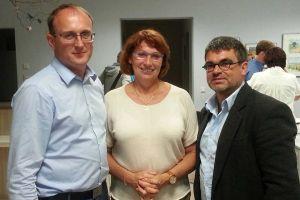 v.l. Jörg Vieweg, Petra Köpping, Ralf Hron