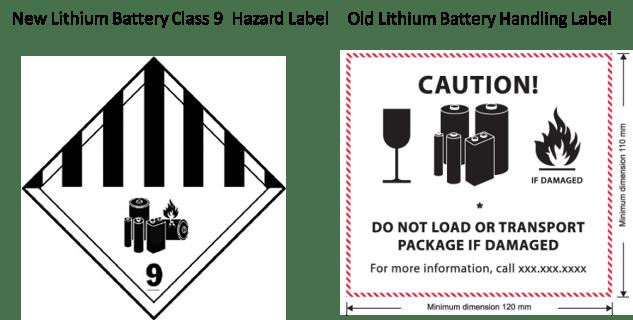 Lithium Ion Battery Label Un3481