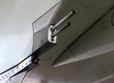 Pylon Drain einer A320 mit CFM-56-Triebwerk. Foto: Andre6r