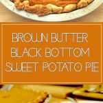 Brown Butter Black-Bottom Sweet Potatio Pie Recipe - Chenée Today