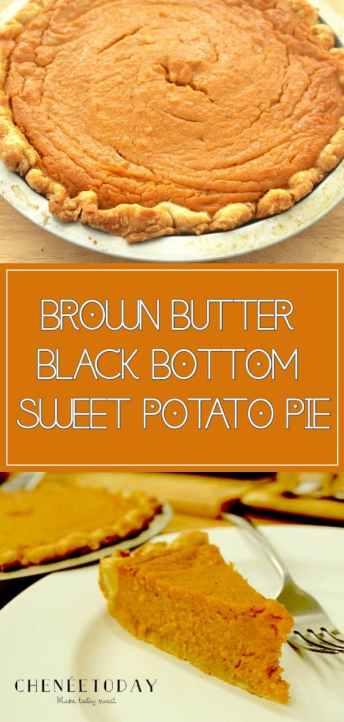 Brown Butter Black-Bottom Sweet Potato Pie Recipe - Chenée Today