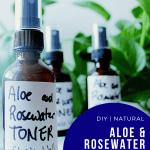 aloe and rosewater facial toner
