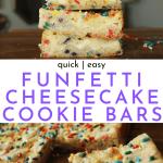 Funfetti Cookie Cheesecake Bars