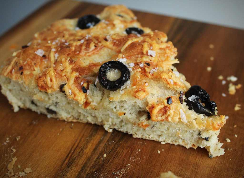 Easy Skillet Black Olive and Parmesan Focaccia Bread Recipe | Chenée Today