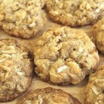 Coconut Macadamia Oatmeal Cookies with White Chocolate Chunks