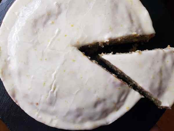 easy lavender earl grey cake recipe with honey lemon glaze