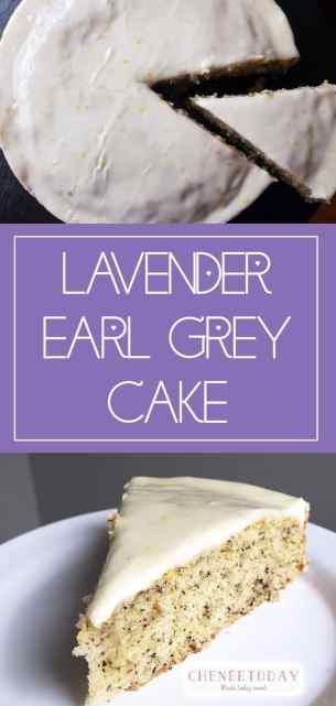 Lavender Earl Grey Cake with a Honey Lemon Glaze