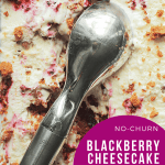 no churn blackberry cheesecake ice cream