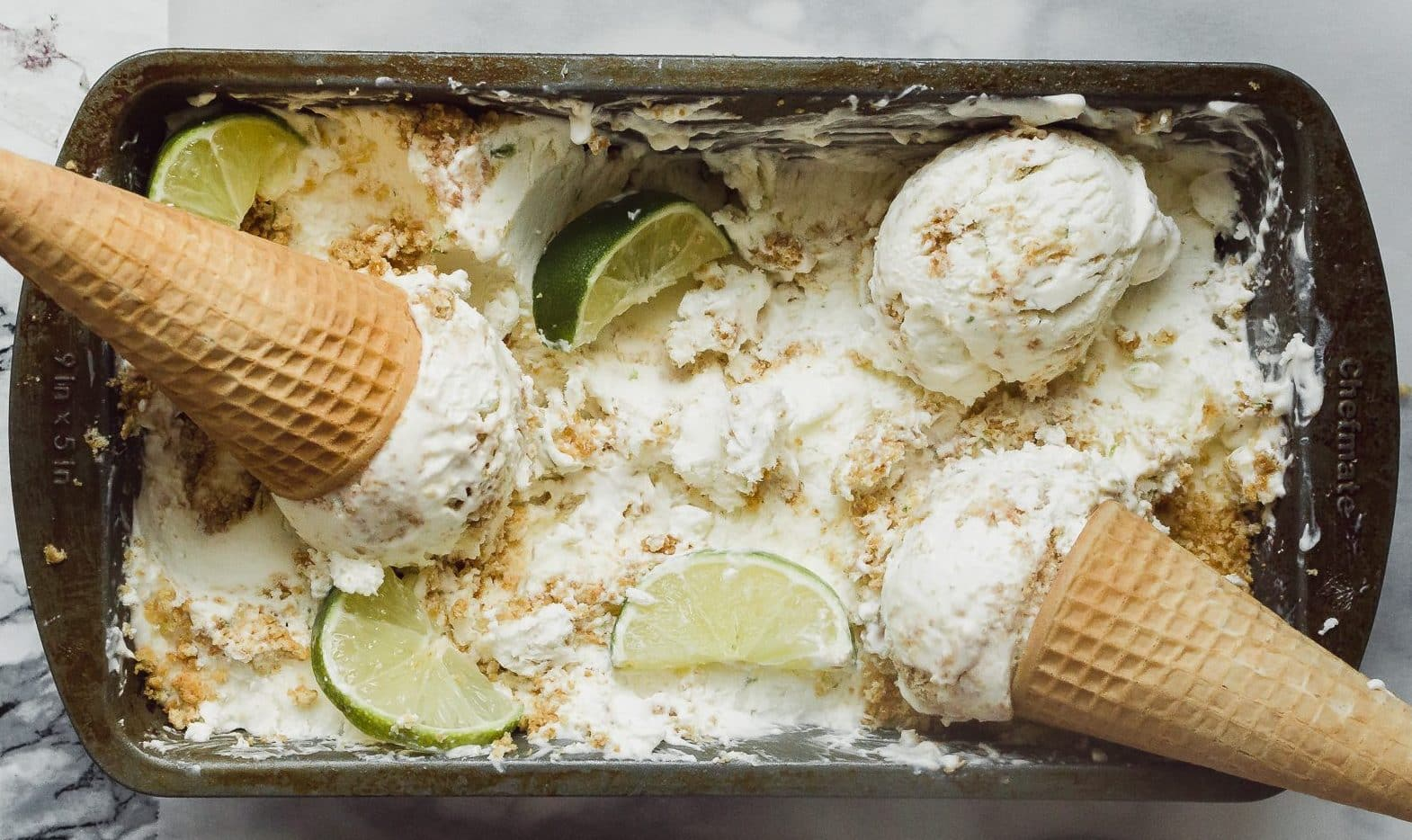 No-Churn Key Lime Pie Ice Cream