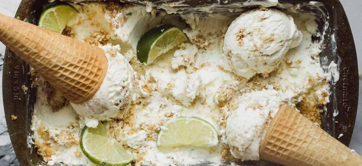 No-Churn Key Lime Pie Ice Cream