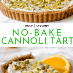 No-Bake Cannoli Tart Recipe - So Easy! | Chenée Today