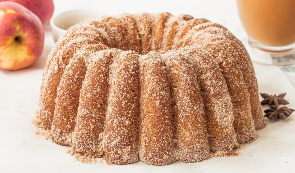 Apple Cider Donut Cake - Easy Bundt Cake Recipe with Fresh Apples and Cinnamon! | Chenée Today