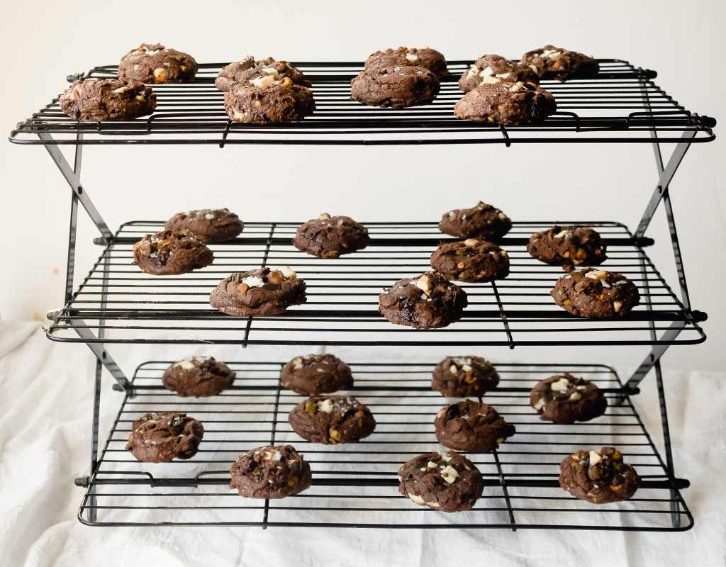 Brownie Mix Cookies with White Chocolate, Cherries and Pistachios   Chenée Today