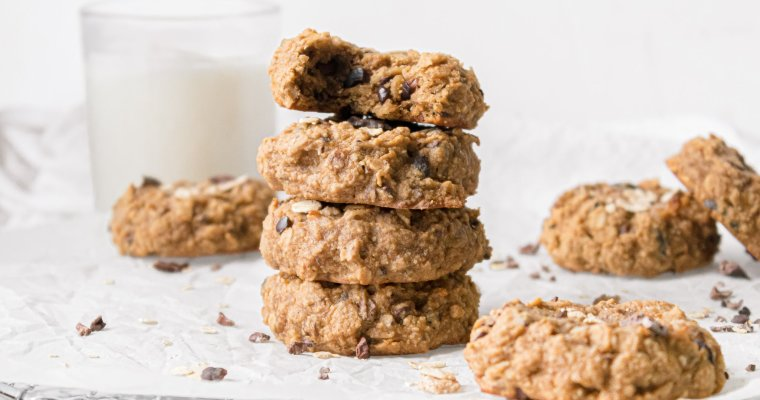 Vegan Banana Oatmeal Cookies
