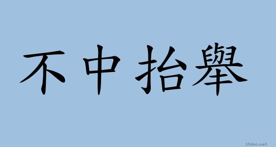 成語: 不中抬舉 (注音、意思、典故)   《成語典》?