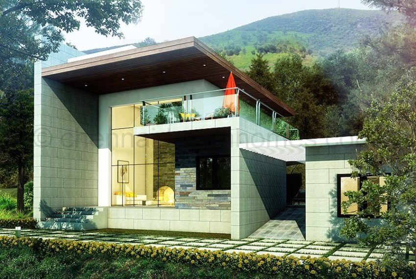 2 BHK Villa Elevation