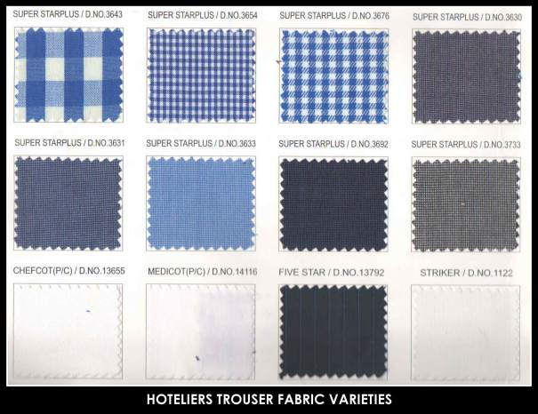 Exclusive Trouser fabrics.