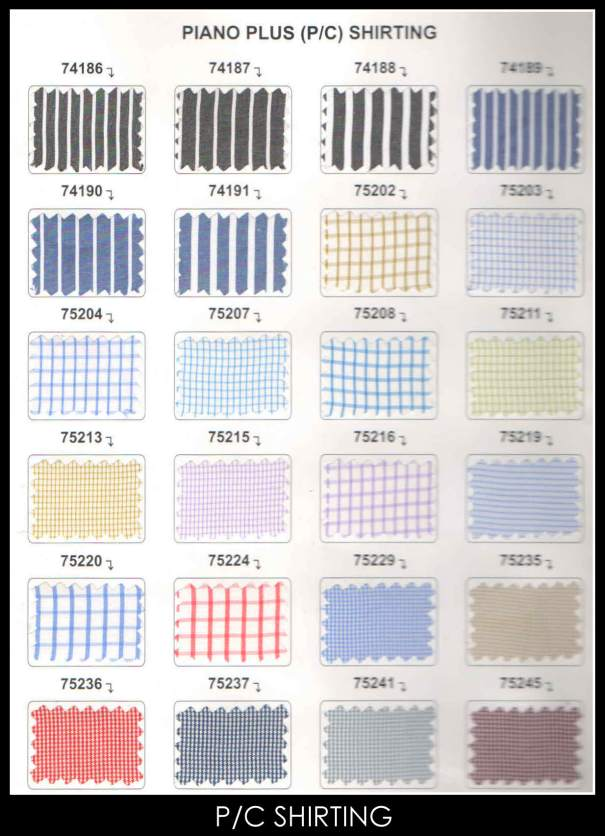 Polyester Cotton Shirting Fabric