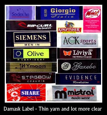Damask label supplier in Chennai