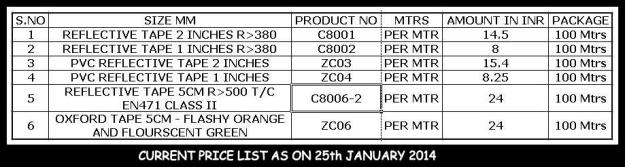 Reflective Tapes in Chennai - Price list