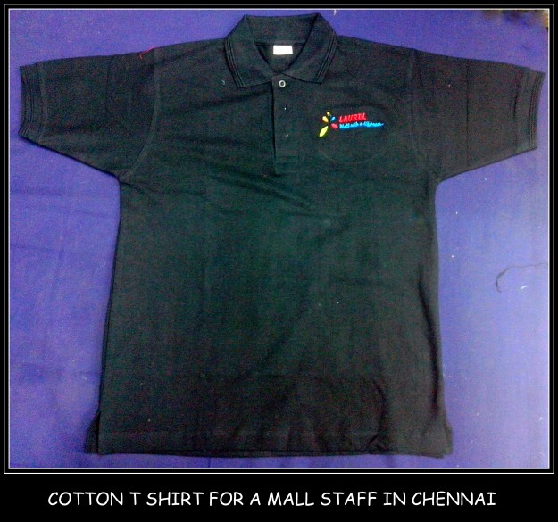 Cotton tshirt for a famous mall in Chennai