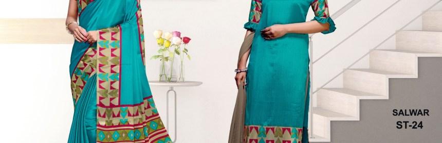 Uniform saree suppliers in India