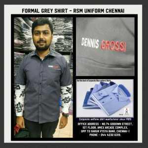 Formal Grey Shirt MAnufacturer In Chennai for Dennis Grossi