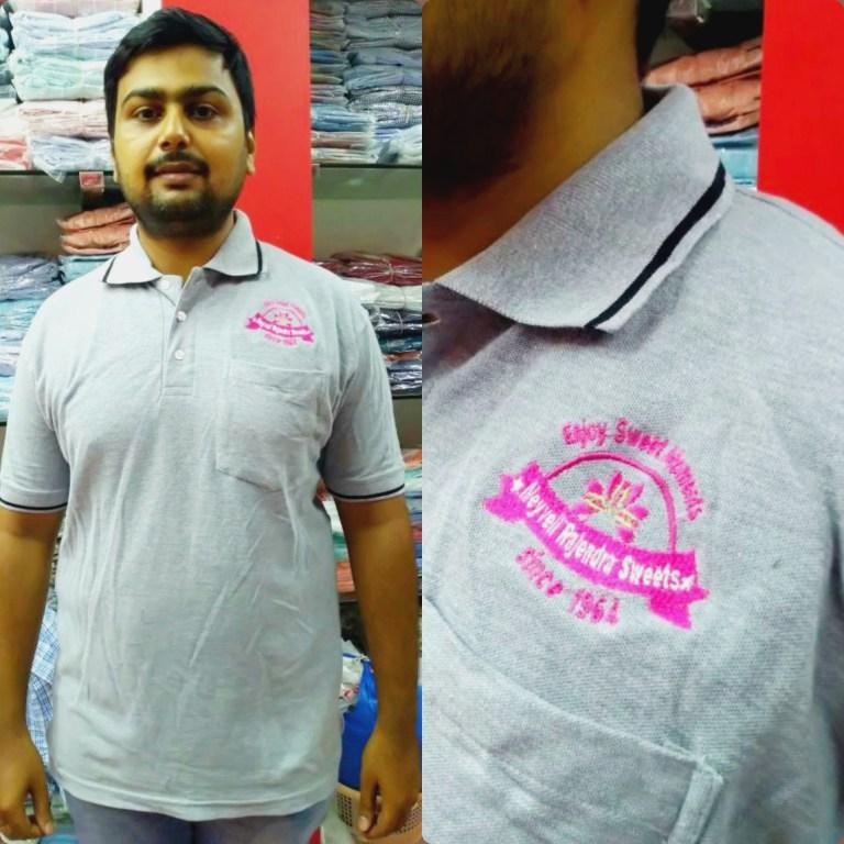Grey melange T shirt for Neyveli Rajendra Sweets