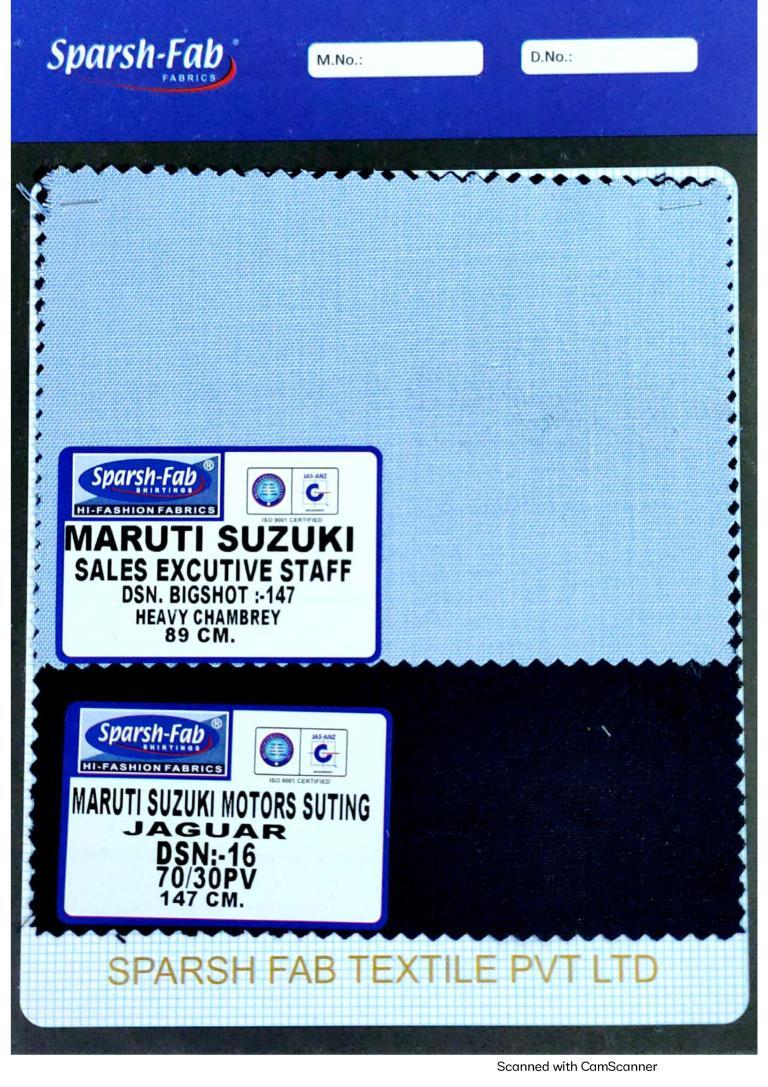Maruti suzuki sales executive uniforms in India