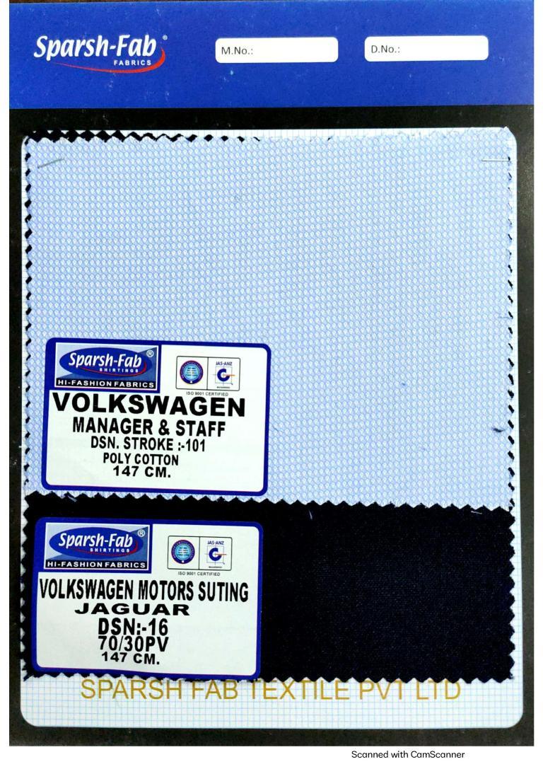 Volkswagen motors uniforms in India