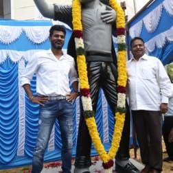Prabhu Deva Inaugurate Michael Jackson Granite Statue Photos