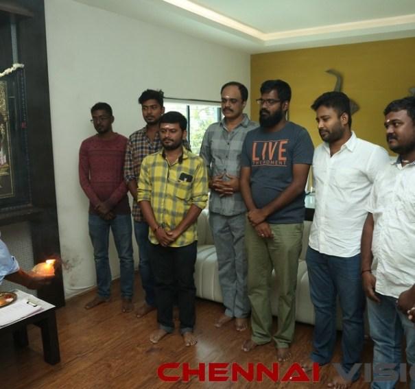 Pallu Padama Paathuka Movie Dubbing Pooja Photos
