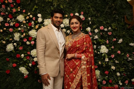 Arya - Sayyesha Reception Photos 8