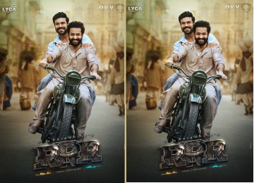 Latest posters from 'RRR' Movie starring Jr.NTR and Ramcharan directed by SS Rajamouli.