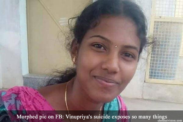 Morphed pic on FB: Vinupriya's suicide exposes so many things