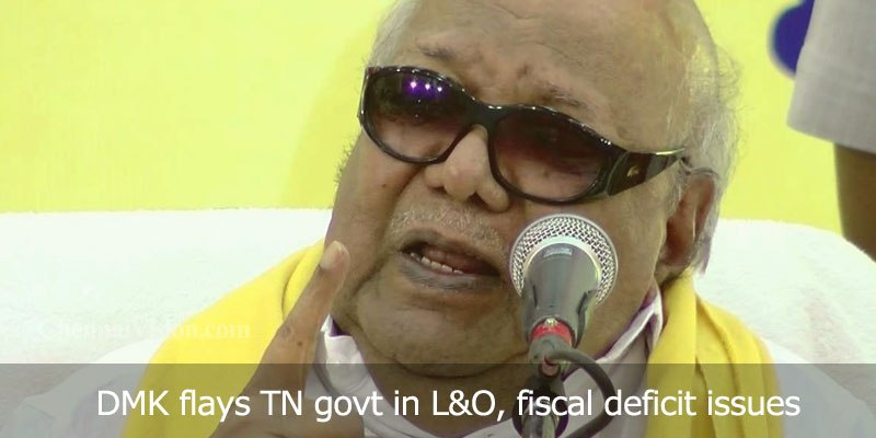 DMK flays TN govt in L&O, fiscal deficit issues