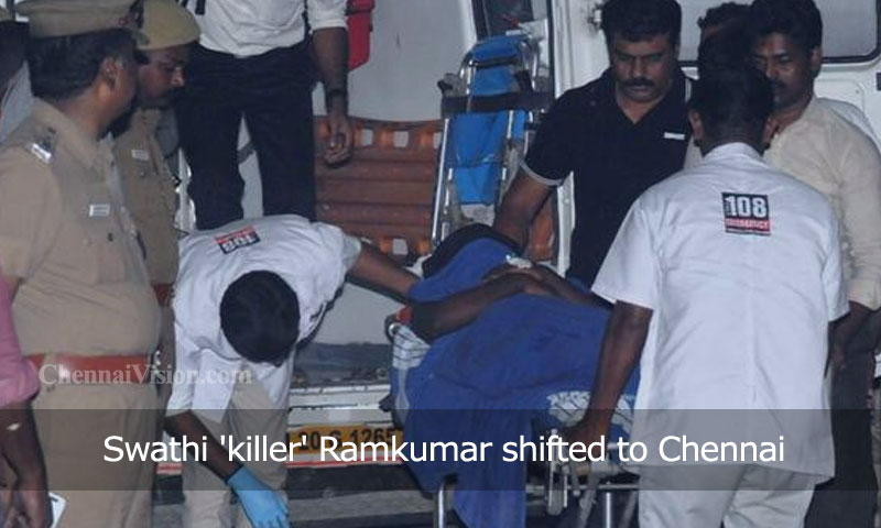Swathi 'killer' Ramkumar shifted to Chennai