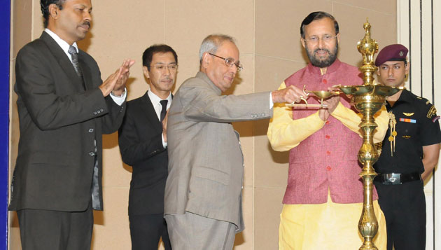 Pranab Mukherjee attends International Literacy Day Celebrations