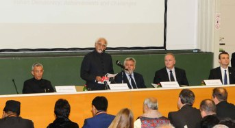 Delivers Lecture on 'Indian Democracy: Achievements and Challenges' at Corvinus University, Budapest